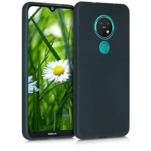 kwmobile Hülle kompatibel mit Nokia 7.2 - Hülle Handy Metallic Petrol