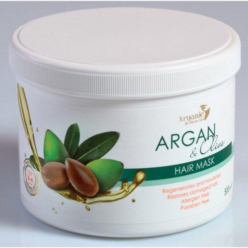 Regenerative und pflegende Haarmaske mit Argan & Olivenöl * Sofortwirkung