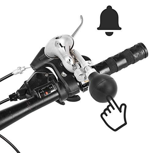 para manillar de menos de 2,2 cm de diámetro, alarma sonora para bicicleta con salida de aire con forma de campana, hierro y goma, para bicicleta de montaña