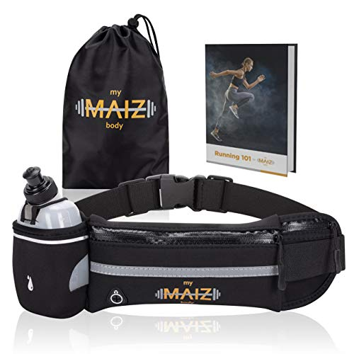 MyMAIZBody Running Belt – Water Bottle, Carry Bag and Running 101...