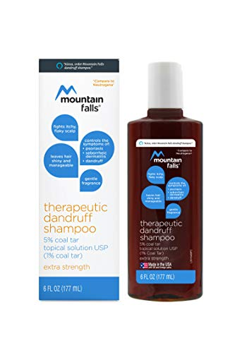 Mountain Falls Therapeutic Dandruff Shampoo 5% Coal Tar Topical Solution, Extra Strength, 6 Fluid Ounce (Pack of 6)
