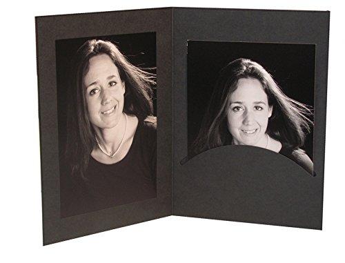 10 Stk. Portraitmappen m. Passepartout 13x18 schwarz - Daiber