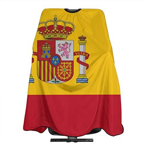 Delantal de corte de pelo para peluquería con bandera de España y capa de peluquería