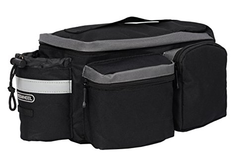 Roswheel 14024 Convertible Bike Bicycle Rear Rack Seat Pannier Trunk Bag with Cup Holder