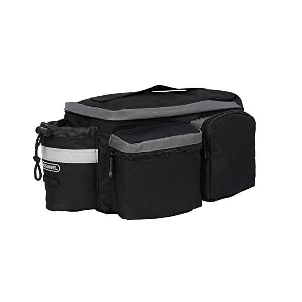 Roswheel 14024 Convertible Bike Bicycle Rear Rack Seat Pannier Trunk Bag with Cup...