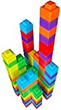 Magz-Pixels Magnetic Building Blocks, Magnetic Building and Stacking Set containing 48 Pieces