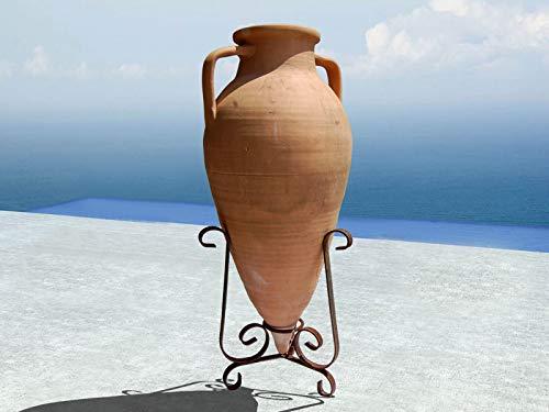 Kistengeflecht ANFORA Spitze, Terrakotta, mit Tüll aus Eisen, 100 cm