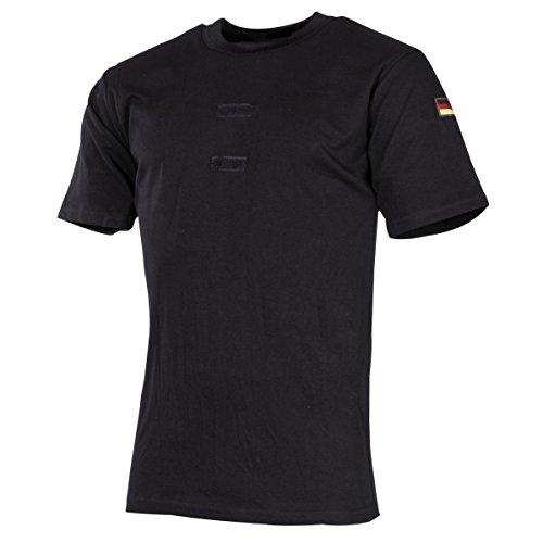 MFH BW Tropenhemd mit Klett und Hoheitsabzeichen (Schwarz, 8)