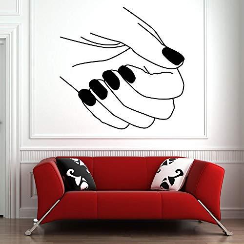 Pegatinas de pared arte salón de belleza calcomanías para ventanas salón de uñas manicura pegatinas de vinilo patrón pegatinas de pared para niñas