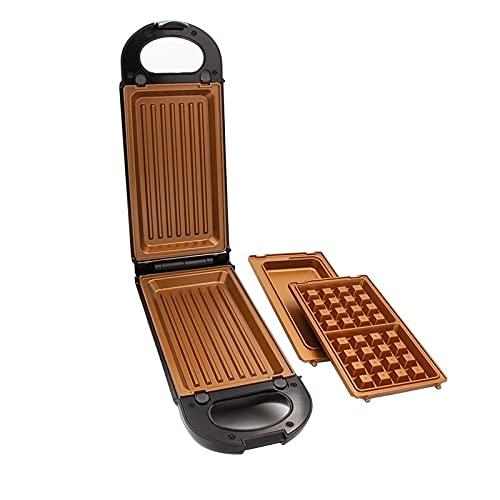 Livington FlipSwitch | drehbarer Multifunktionsgrill | Kombigerät | inkl. 3 antihaftbeschichtete Wechseleinsätzen | spülmaschinengeeignet | Grillen, Toasten, Backen, Überbacken und Rösten | 800W