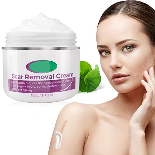 Scar Cream, Scar and Acne Mark Removal Cream Gentle Formula with Plant Extract Ingredient Balancing Skin Color Smoothing Irregularity Non-Greasy Non-Irritating
