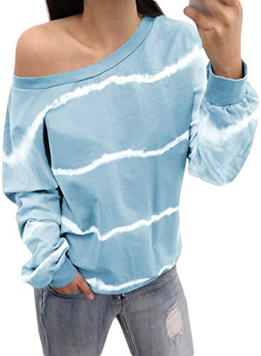 CORAFRITZ - Sudadera de manga larga con cuello redondo para mujer