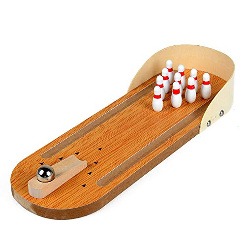 Big Save! SHENGHUAJIE Mini Wooden Bowling Toy Table Game Kids Toy