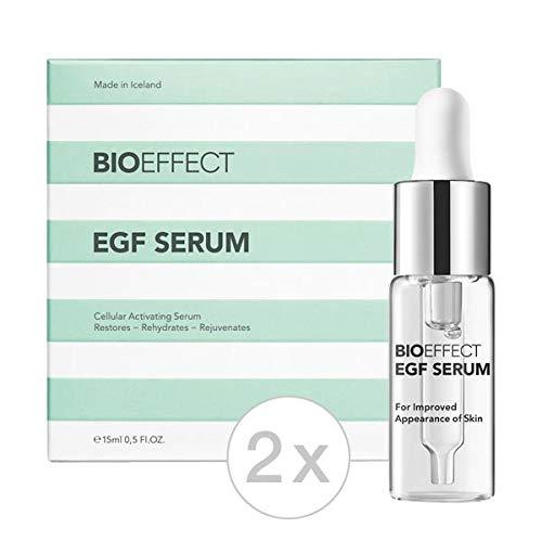 Bioeffect EGF Serum 15 ml (Set – 2 x 15 ml), serum antiedad de alta calidad, cuidado de cara, cuello y escote, cuidado facial, cuidado diario para cualquier tipo de piel (2 x 15 ml)