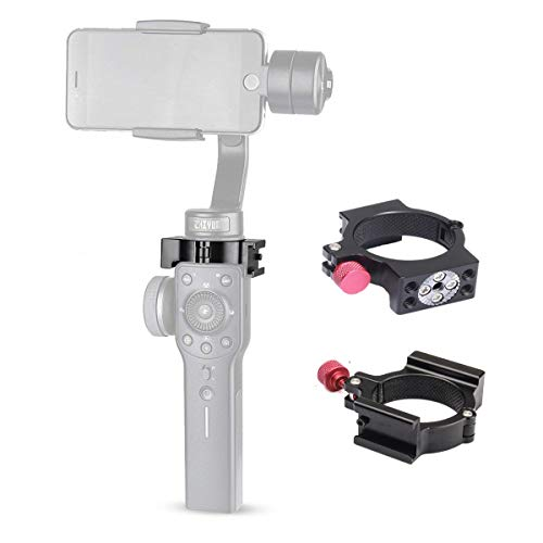 Kuxiu Zhiyun Smooth 4 Ring Clamp, 4-Ring V2 Cold Shoe Adapter for Smooth 4 Gimbal Stabilizer to Compatible with Rode Microphone/LED Video Light/Monitor Vlogging etc. Accessories