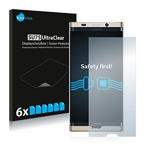 Savvies 6X Schutzfolie kompatibel mit Gionee M2017 Bildschirmschutz-Folie Ultra-transparent