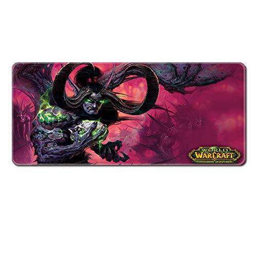 XCCV Gaming Mauspad Gaming Mauspad Mauspad Großes World of Warcraft Professionelles Gaming Mauspad Anti-Rutsch-Gummi Computer-Mauspad, große Größe Tischunterlage, Wow Gamepad, 4, 900 * 400 * 3