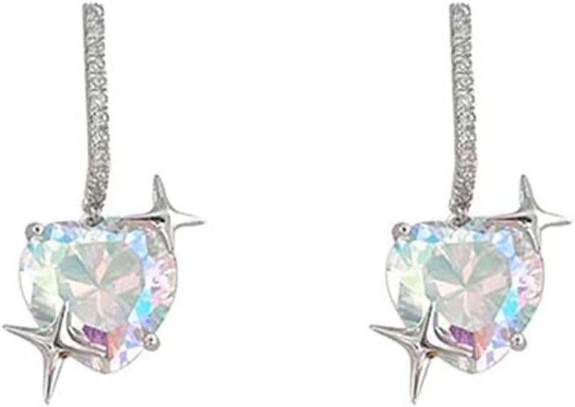 CNluca Ear Buds Light Luxury Temperament Ear Jewelry Female High-End Diamond-Studded Love Earrings Small Exquisite Earrings