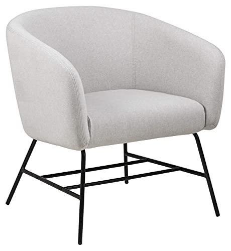 AC Design Runa Sessel, hellgrau, Stoff, B: 72 x H: 76 x T: 67 cm, 1 Stück