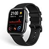Amazfit GTS Smartwatch Fitness Tracker with Built-in GPS, 5ATM Waterproof, Heart Rate, Music, Smart Notifications, iOS, Black