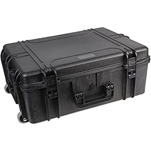 Duratool Waterproof Case, With Wheels, 22'' Water Resistant Case, 560x355x230mm