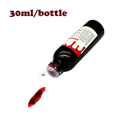 WXGY Fake Blood Halloween Ultra Realistische Fake Blood DIY Flasche Drop Simulation Requisiten Kleid Make-up Gesicht & Körper Farbe Party Supplies Anmutige Imaginative 30 ml Blut