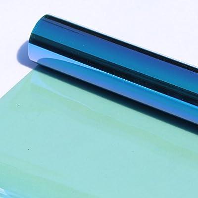 HOHO Vlt74% Caméléon Automotive Film Solaire teinté pour Fenêtre de Voiture Pare-Brise Côté Vitre Arrière Nano en Céramique Tint Foils
