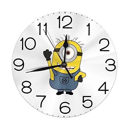 Melinda Perrodin Hey Minions Wanduhr mit Uhr, rund, mit Uhr, Elegantes Anstrich, digital, Mut