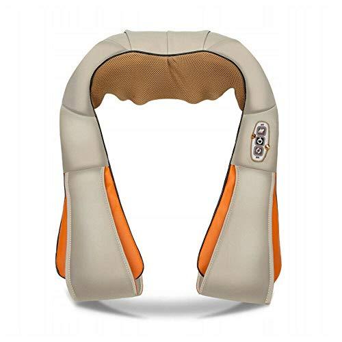 Masajeador de cuello con función de calor, masajeador eléctrico para hombros, cuello, espalda, shiatsu 3D, cojín de masaje, velocidad, alivio del dolor muscular, en casa, oficina y coche