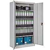 TecTake Armario archivador de Oficina metálico con 2 Puerta