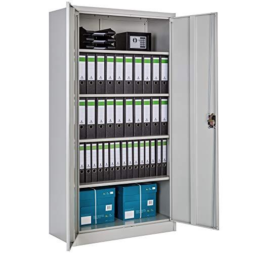 TecTake 800412 Armoire de Bureau Metallique Verrouillable avec Étagères - diverses Tailles au Choix (180x90x40 cm | No. 402483)