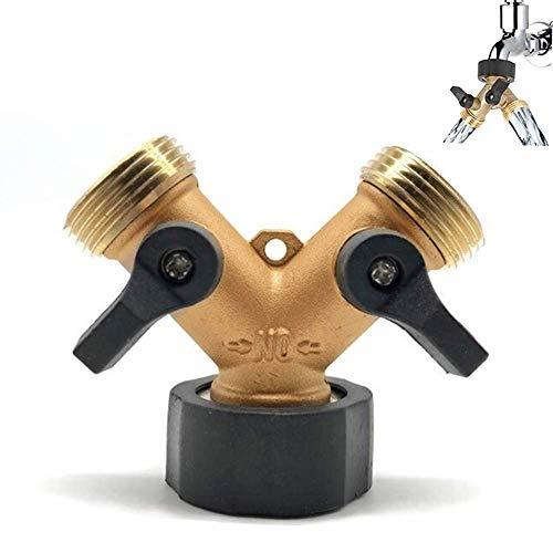 Lnmyic 2 Wege Y Verteiler 3/4 Zoll zum Anschluss von 2 Geräten Y Schlauchverbinder Waschmaschinenanschluss Adapter,Wasserhähne Splitter Gartenschlauch,Y-förmige mit individuellen An/Aus-Ventilen