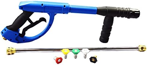 """American Hydro Clean AHCGUNKIT1 M22 Ergo Pressure Washer Gun 4200PSI, 20"""" Lance and 3.0 Nozzle kit, Blue (Pack of 3)"""