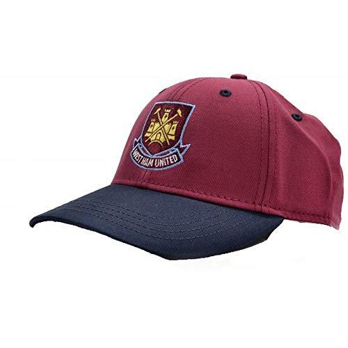 West Ham United FC Unisex Wappen Kontrast Baseballkappe (Einheitsgröße) (Weinrot/Marineblau)
