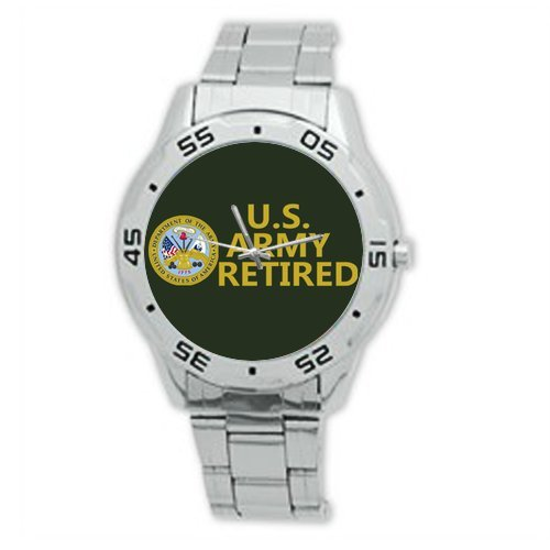 Best Gifts US Army Retired Watch Analogue Stainless Steel Men's Watch