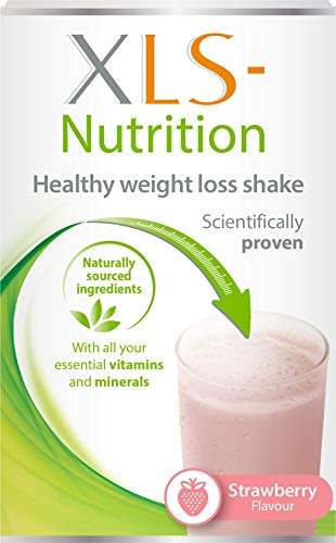 XLS-Nutrition Weight Loss Meal Replacement Shake - Weight Control Diet Supplement, 400 g, Strawberry Flavour, 10 Servings