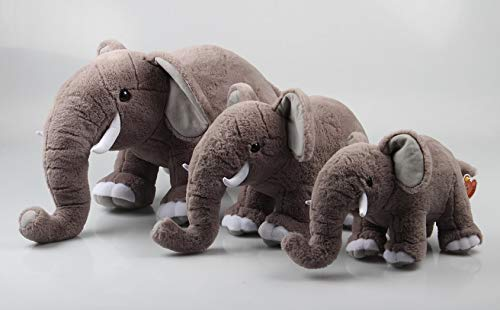 COOLMP – Lote de 6 – Peluche elefante con defensas 30 cm