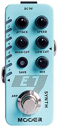 ytrew Leoie MOOER E7 SYNTH Electric Guitar Synthesizer Effect Pedal Tones Individual Arpeggiator blue