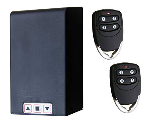 Universele tuning-set voor TM5886 met afstandsbedieningen – voor rolluiken en rolluiken werkt op elke rolluik tot 1 HP, ontvanger en afstandsbedieningen, inclusief de mogelijkheid om lichtkasten of knipperlichten te verbinden.