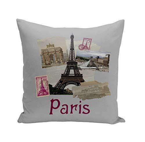 Fabulous Coussin 40x40 cm Paris Collage France Ville Tour Eiffel Louvre