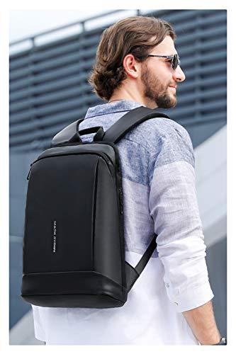 MARK RYDEN Laptop Rucksack 15.6 Zoll,Ultra Dünn Rucksack Wasserdicht,Schlanker Business-Rucksack, Rucksack Herren Daypack für Reise,Arbeit,Schule(schwarz)