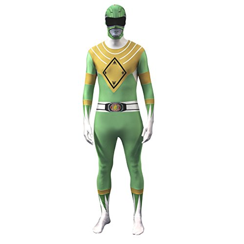 Morphsuits Disfraz Oficial de Power Ranger, Verde, Medium