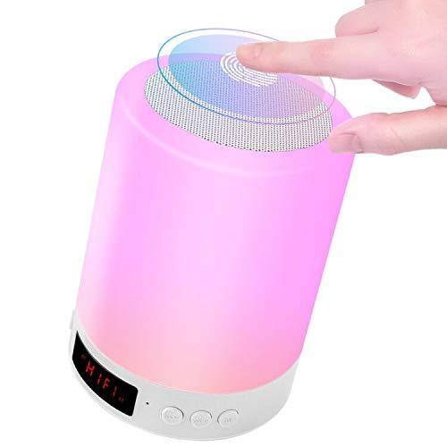 StillCool Lámpara de noche Altavoz Bluetooth Sensor táctil Lámpara