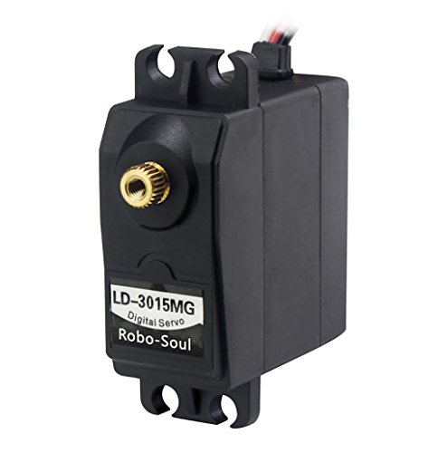 LewanSoul LD-3015MG Standard Full Metal Gear Digital Servo with 17kg High Torque for RC Car Robot(Control Angle 270)
