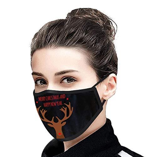 manadlian Weihnachten Mundschutz Einweg Erwachsene Atmungsaktive Mundbedeckung...