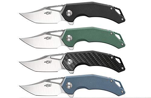 Ganzo Messer FH61 Taschenmesser Outdoormesser, D2 Stahl, Bowie Point, Flipper Lock, Farbe:Carbon (Mehrfarbig)