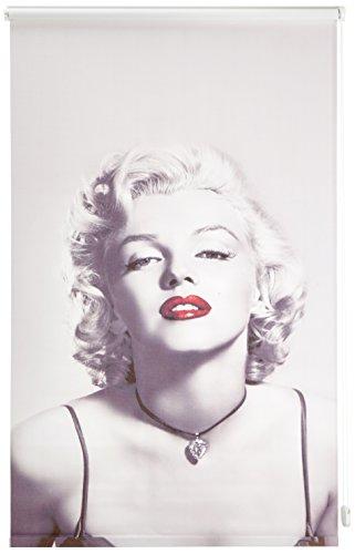Startex, Marilyn Monroe DS 5040 digitaal bedrukt zonwering rolgordijn met wand- en plafondmontage 100 x 160 cm inkijkbescherming ondoorzichtig, wit