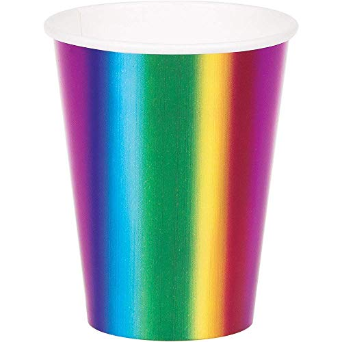 Creative Converting Rainbow Foil Party Cup, 9oz