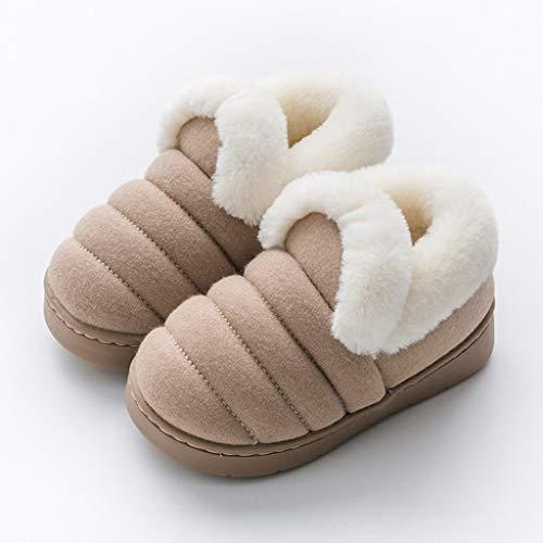 WZHZJ Zapatillas for niños de Invierno Lindo Dibujos Animados Dinosaurio Modelado Zapatillas for niños Niñas Piso Interior No resbalón Zapatos Cálidos Niños Zapatillas