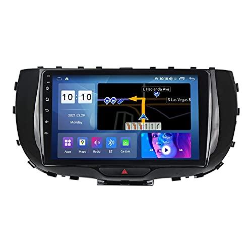 Android 10.0 coche Radio Stéreo Para KIA Soul 2019-2020 Multimedia Player FM Reproductor GPS Navegación IPS Pantalla Táctil Soporte 4G Wifi SWC Carplay Bluetooth DSP,4 Core WiFi: 1+16GB